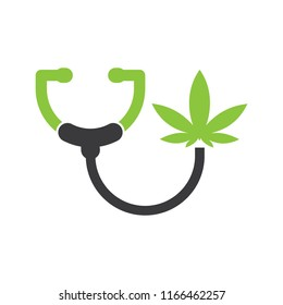 Dr.Kush Cannabis Marijuana Health logo icon vector