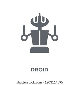 Droid icon. Droid design concept from Science collection. Simple element vector illustration on white background.