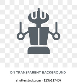 Droid icon. Droid design concept from Science collection. Simple element vector illustration on transparent background.