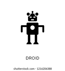 Droid icon. Droid symbol design from Science collection. Simple element vector illustration on white background.