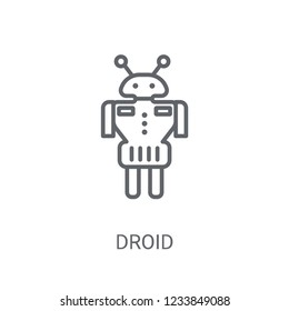 Droid icon. Trendy Droid logo concept on white background from Science collection. Suitable for use on web apps, mobile apps and print media.
