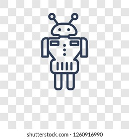 Droid icon. Trendy Droid logo concept on transparent background from Science collection