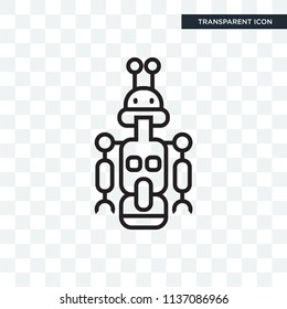 Droid vector icon isolated on transparent background, Droid logo concept