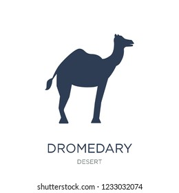 Dromedary icon. Trendy flat vector Dromedary icon on white background from Desert collection, vector illustration can be use for web and mobile, eps10