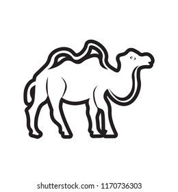 Dromedary icon vector isolated on white background for your web and mobile app design, Dromedary logo concept