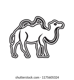 Dromedary icon vector isolated on white background for your web and mobile app design, Dromedary logo concept , outline thin shape on line style with strokes