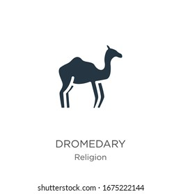 Dromedary icon vector. Trendy flat dromedary icon from religion collection isolated on white background. Vector illustration can be used for web and mobile graphic design, logo, eps10