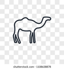 Dromedary vector icon isolated on transparent background, Dromedary logo concept
