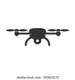Drone aerial camera icon graphic design logo illustration