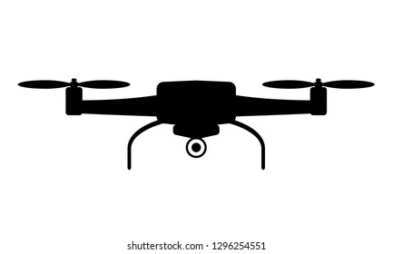 Drone aerial camera icon with minimal style. Vector Illustration.