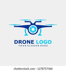 Drone Aerial Logo Vector Template