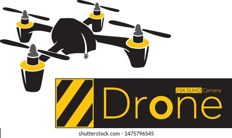 Drone camera company logo icon