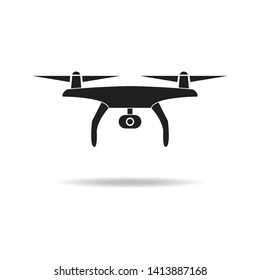 drone with camera icon. Simple sign illustration. Vector illustration.