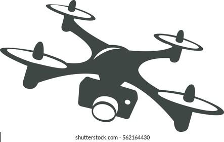 Drone with camera Icon vector Illustration