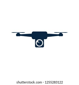 Drone with camera unit vector eps format