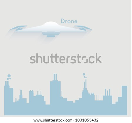 Drone Delivery Concept Vector Illustration Stock Vector