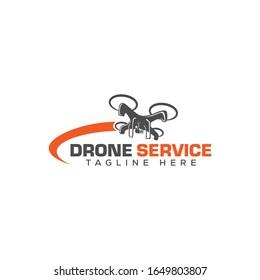 Drone design related to drone service company logo. Illustration design of drone