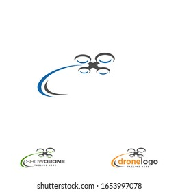 Drone design related to drone service company logo. Illustration