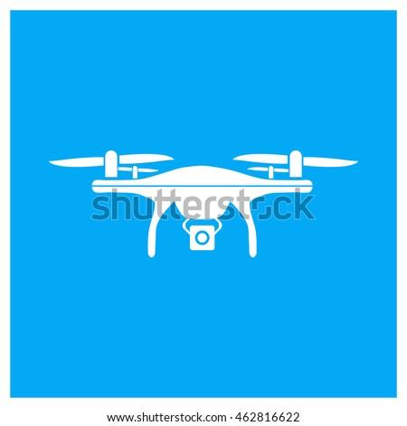 Drone Icon Dji Phantom Icon Flat Stock Vector Royalty Free