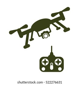 drone Icon, flat design style