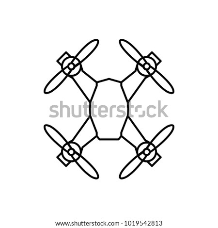 Drone Icon Outline Style Drone Object Stock Vector Royalty Free