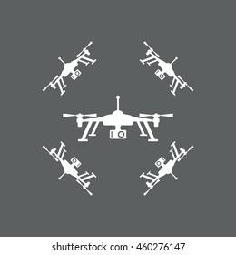 drone Icon, quadrocopter icon, vector, icon flat