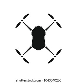Drone icon. Silhouette illustration of Drone vector icon for web and advertising