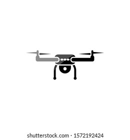 Drone icon. Vector illustration can be used for topics quadcopter, surveillaance, technology