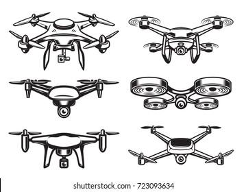 Drone  logo design, emblem