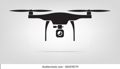 Drone for logo design fly camera and video