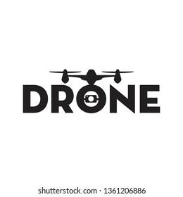 drone logo design vector illustration