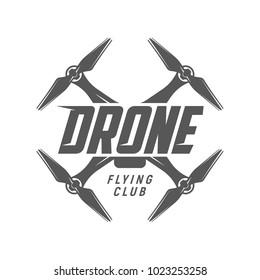 Drone logo. Flying club label