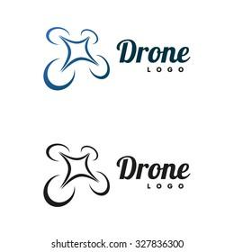 Drone logo isolated on white background