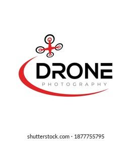 Drone Logo. Drone Photography Logo design vector