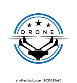 Drone logo template, symbol and icon