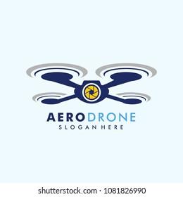 drone logo template vector icon. photography drone vector. quadcopter vector icon