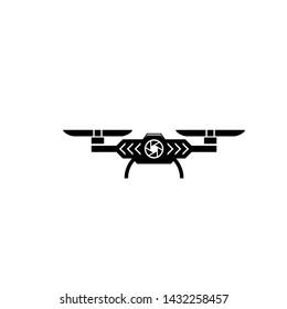 drone logo vector simple design