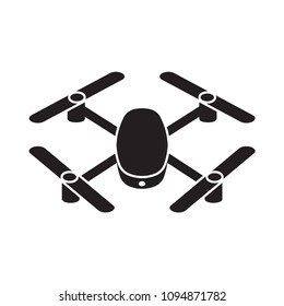 drone quadcopter icon isolated on white background, vector illustration