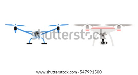Drone Quadcopter Vector Stock Vector (Royalty Free