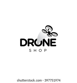Drone Quadcopter Vector Template Logo