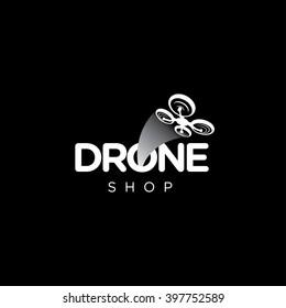 Drone Quadcopter Vector Template Logo