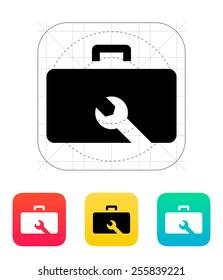 Drone repair kit box icon. Vector illustration.