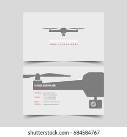 Drone Shop Business card design template.