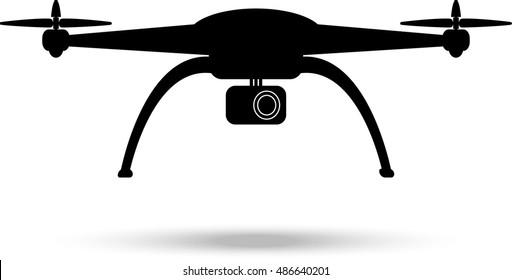 Drone silhouette. Vector illustration