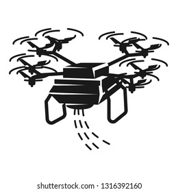 Drone sower icon. Simple illustration of drone sower vector icon for web design isolated on white background