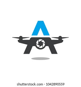 drone vector logo.
