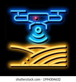 Drone Wi-Fi Signal neon light sign vector. Glowing bright icon Drone Wi-Fi Signal sign. transparent symbol illustration