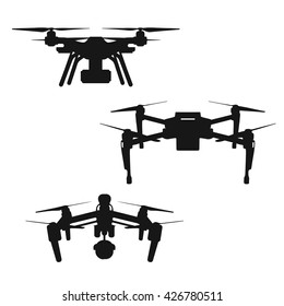 Drones` silhouette