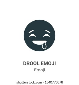 Drool emoji vector icon on white background. Flat vector drool emoji icon symbol sign from modern emoji collection for mobile concept and web apps design.