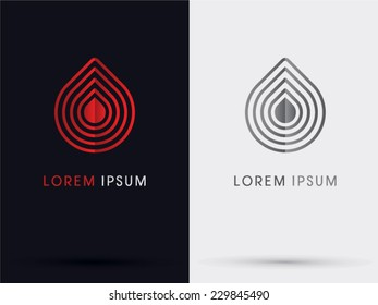 Drop blood abstract logo,vector